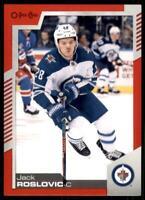 2020-21 UD O-Pee-Chee Red Border #393 Jack Roslovic - Winnipeg Jets