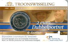 NEDERLAND, DUBBELPORTRET TROONWISSELING 2 EURO BU, Commemoratief blister 2013