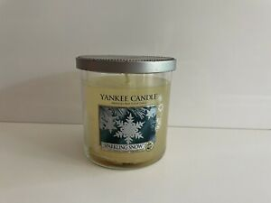 Yankee Candle Sparkling Snow Small 7oz Tumbler Single Wick New But Flawed