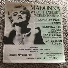 Madonna ticket Leeds Roundhay Park Who's That Girl  tour #070055