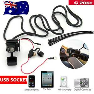 Waterproof Motorcycle Motorbike USB Charger Phone GPS Power Adapter Socket 12V