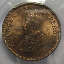 PCGS-MS64RB 1914(C) BRITISH INDIA 1/12 ANNA RED BROWN