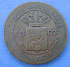 Nederlands Indie - 2 1/2 cent 1857 KM# 308