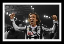 ANDREA PIRLO - JUVENTUS AUTOGRAPHED SIGNED & FRAMED PP POSTER PHOTO