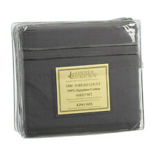 1500 TC THREAD COUNT LUXURY EGYPTIAN COTTON SHEET SET KING SIZE CHARCOAL GRAY