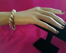 """SAN MARCO 7"""" SOLID YELLOW GOLD 14K BRACELET JEWELRY 25 GRAMS LARGE"""
