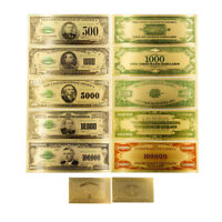 American 10 thousand gold banknote Colorized Shining Golden Paper Money crafts