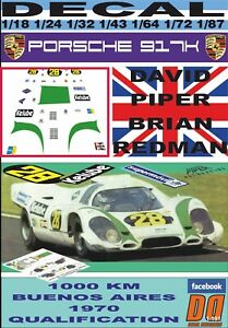 DECAL PORSCHE 917K PIPER - REDMAN 1000 KM BUENOS AIRES QUALIFICATION (06)