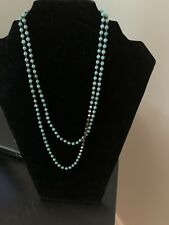 Silpada Sterling Howlite Bronzite Great Lengths  Bead Necklace N2396 Turquoise