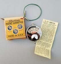 Antique Sterling Mfg. Co. Pocket Ammeter Made In Usa