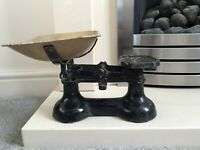 Vintage Cast Iron and Brass Kitchen Scales. No weights