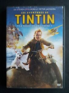 Les Aventures de Tintin Spielberg Peter Jackson DVD 2011 Bon etat