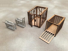 Colonial chasseurs Animal Cages 28 mm Laser Cut MDF bâtiments G089