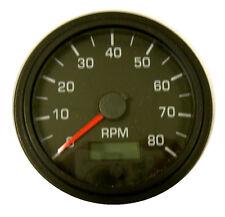 """Tachometer, programmable, 8K RPM, 3-3/8""""/86mm, LED light, black/black, 001-TA-BB"""