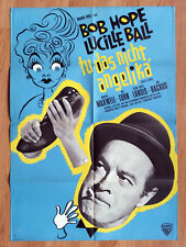 Bob Hope CRITIC's CHOICE Lucille Ball - rare  German 1-sheet poster 1963