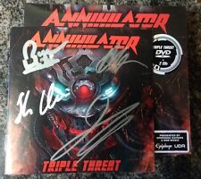Annihilator Triple Threat 2CD/DVD With Autographed Booklet jeff waters