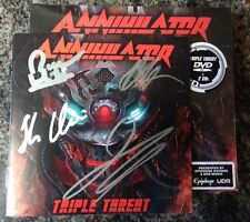 SIGNED Annihilator Triple Threat 2CD/DVD With Autographed Booklet jeff waters