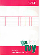 Ivy Book Keeping Journal A4 32 Page Treble Cash. Ideal for The Small Business