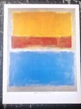 1952 Blue, Green, and Brown ABSTRACT ART PRINT Untitled by Mark Rothko 37x28