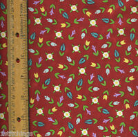 Fancy Felines Jim Shore 21431R Quilt Quilting Fabric red flowers