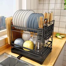 Stainless Steel Kitchen Shelf Dish Drying Rack Storage Rack Tableware Stand
