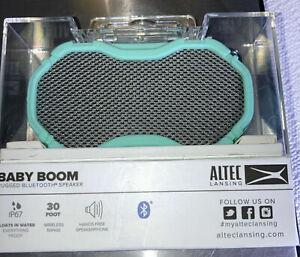 NEW Altec Lansing Baby Boom Rugged Bluetooth Portable Speaker IMW269N-MTG-BB