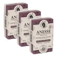 3 x Savon de Marseille Donkey Milk Soaps -Blackberry Musk- Dual Face French Soap
