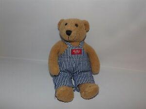 "Vintage 11"" Eden Osh Kosh B'Gosh Teddy Bear In Striped Overalls Plush (*g9)"