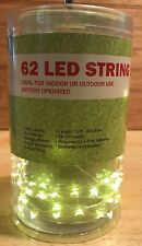 10 Foot Fairy 62 LED String Lights Opaque Crafts Decor 4 Hour Timer Battery