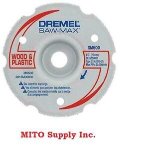 New Dremel SM600 3-Inch Wood & Plastic Flush Cut Carbide Wheel- Free Ship