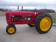 "Massey Harris 33 tractor hitch PTO 12.4 x 38"" Tires Runs good grill screen fende"
