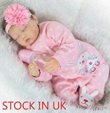 "22"" Lifelike Sleeping Reborn Baby Doll Soft Newborn Doll Kids Xmas Gift Handmade"