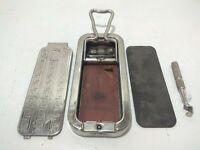 Rolls Razor Antique Vintage 1920s whet stone sharpener metal