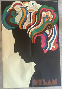 ORIGINAL BOB DYLAN - MILTON GLASER PSYCHEDELIC POP-ART POSTER -1967- EUC !