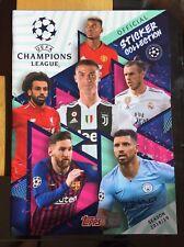 UK Edition Panini Champions League Complete Sticker Set 2018 2019 Mint Condition