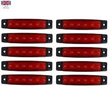 10 X 24V LED RED REAR/SIDE MARKER DIRECTION INDICATORS VOLVO SCANIA MAN DAF FORD