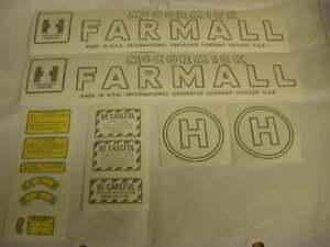 Vinyl Decal Set Farmall H & International H