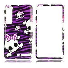 Purple Skulls HARD Protector Case Snap On Phone Cover Verizon Motorola Droid 3