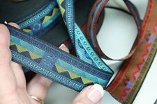 Woven Trim Native Blue Mountains 1 1/8 inch wide by the yard
