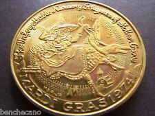 1974 Choctaw MOTHER GOOSE Multi-Color Mardi Gras Doubloon