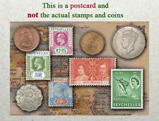 Postcard: Seychelles Stamps and coins of Yester Years