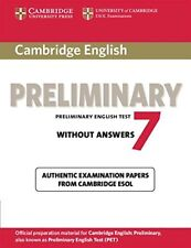 Cambridge English Preliminary 7 Student's Book without Answers (PET Practice Tes
