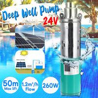 Submersible Pump DC24V 50M Lift Max Flow 1.2M³/H Solar Energy Deep Well Pump New