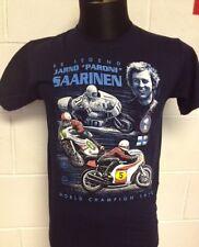 "Jarno Paroni Saarinen "" World Champion 1972"" Motorcycle T-SHIRT, BLUE - 2X-LARGE"