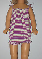 New BABY GAP Size 0-3 Months Purple Striped Bubble One-Piece Bodysuit Romper