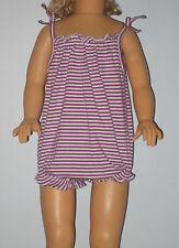 New BABY GAP Size Newborn Purple Striped Bubble One-Piece Bodysuit Romper