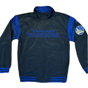 Golden State Warriors NBA Jacket Snap Button - Black - Embroidered - Size XLT