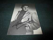 PAUL ANKA Signed 3 1/2 x 5 1/4 B&W Book Photo