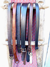 43 44 45 Mens Belt Lot Leather XL Faux Leather Black Brown Long Braided XXL