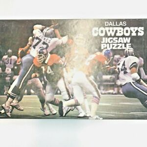Vintage NFL Official Dallas Cowboys Jigsaw Puzzle 1978 200 piece Broncos